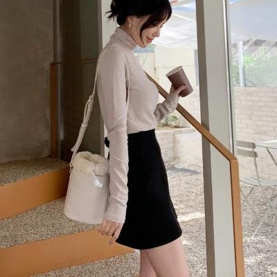 여성 숄더백 호보백 가방 데일리 모이즈 밍크퍼 원통