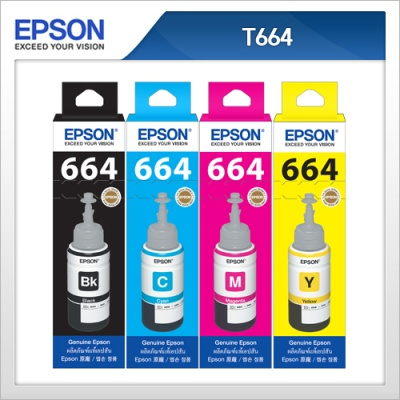 엡손(EPSON) 정품 잉크 T6641 /T6642 / T6643 / T6644 L100 / L110 / L200 / L210 / L300 / L350 / L355 / L550 / L555
