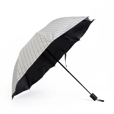 큐브 패턴 3단 양산겸 우산
