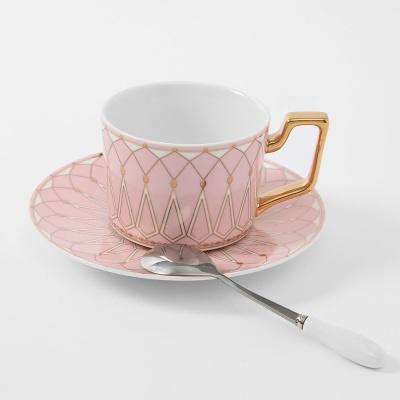 로열트리 노르딕 커피잔 세트(220ml) (핑크) (쇼핑백