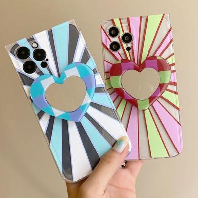아이폰 x max se2 7 8 사각 미러 그립톡 세트 케이스