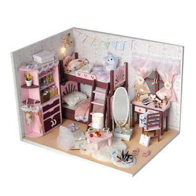 [adico]DIY 미니어처 하우스 - 핑크2층침대방 3