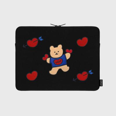 [12/04 예약발송]Bear heart-13inch notebook pouch