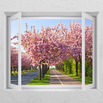 cr562-벚꽃거리_창문그림액자