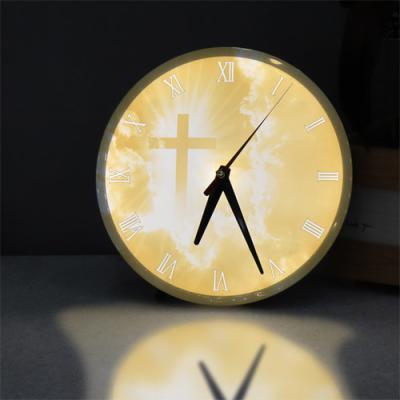 ng269-LED시계액자25R_황금보다귀한십자가
