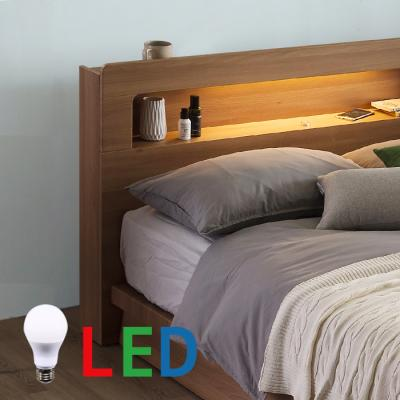 [랜선할인]평상형 LED조명 침대 퀸(본넬매트) DW104