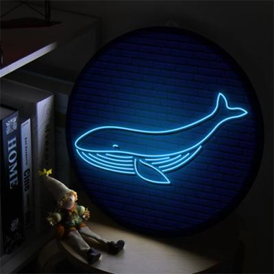 nh920-LED액자35R_네온효과행운의고래