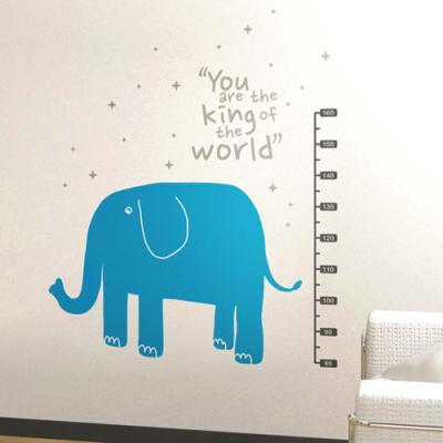 코끼리키재기 (완제품A) 그래픽스티커 동물일러스트