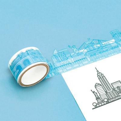 [럭키스] 시티 투명 데코 디자인 테이프 뉴욕