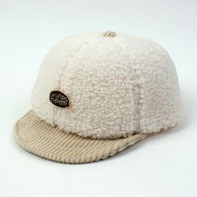 Fleece Ivory Bike Cap