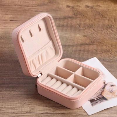 쥬얼리 귀걸이 목걸이 반지 액세서리 보석함 핑크