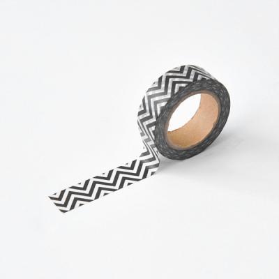 블랙앤화이트 마스킹테이프 - 84 Black Zigzag