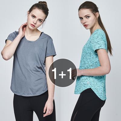 여성 운동복 티셔츠 TS7092 X TS7093 1+1 세트