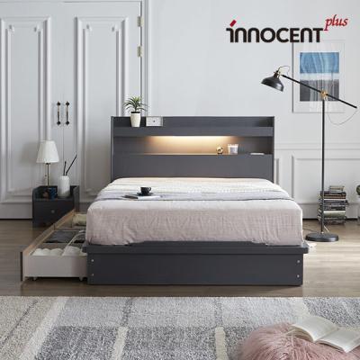 [이노센트] 리브 루아스 LED 큰서랍 침대 Q/K