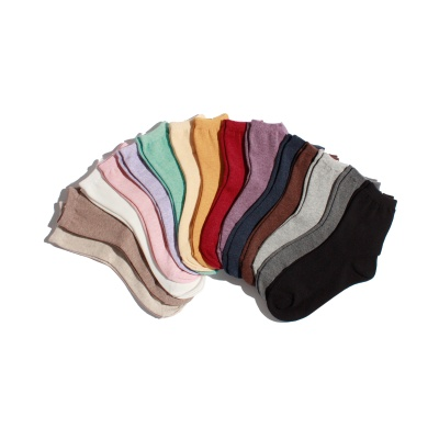 [5팩] 여성용 #0122 BASIC COLOR RIB SOCKS