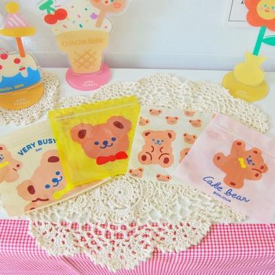 곰돌이 포장 봉투 비닐 지퍼백 (4개 1세트)