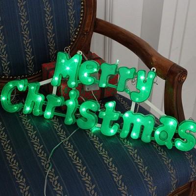 크리스마스 그린 로고 전구