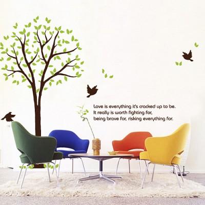 빠띠라인 디자인 스티커 a123_아침의 나무