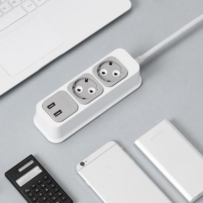 부엉이 클릭탭 USB 2구 1.5m 안전 디자인 멀티탭