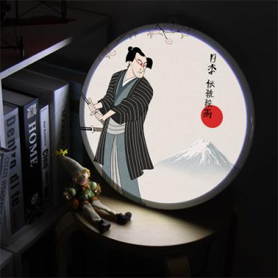 ne698-LED액자35R_일본전통사무라이