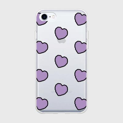 lavender heart fluffy [탱크투명 폰케이스]