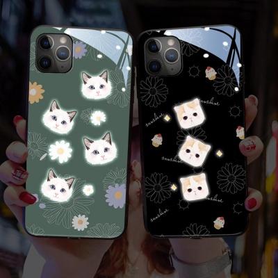 아이폰11 PRO MAX XR XS X 고양이 발광 라이팅 케이스