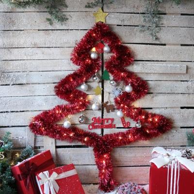 크리스마스 샤틴모루 벽트리 세트 (레드)