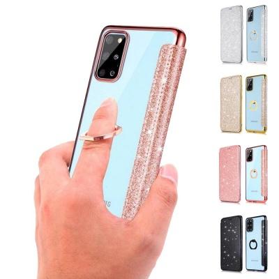 아이폰12 PROMAX MINI 글리터 카드지갑 투명 링케이스