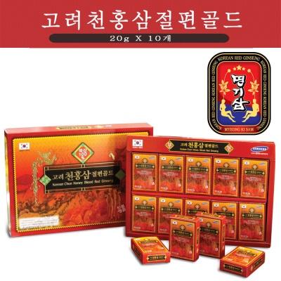 명기삼 고려천홍삼절편골드 200g(20gx10갑)