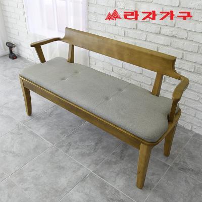 두라스 고무나무 원목 식탁 벤치의자 2인