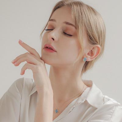 제이로렌 N0978 12월탄생석 블루아게이트 목걸이