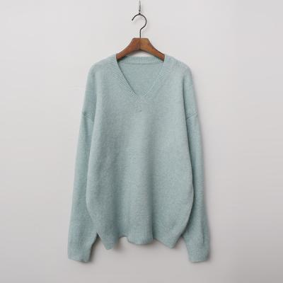 Wool V-Neck Box Sweater