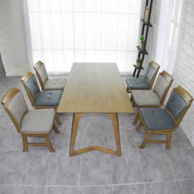 N4118 6인 원목 식탁 세트(의자형) 2colors