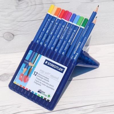 12색 삼각 수채색연필..스테들러 Ergo soft 156 SB12