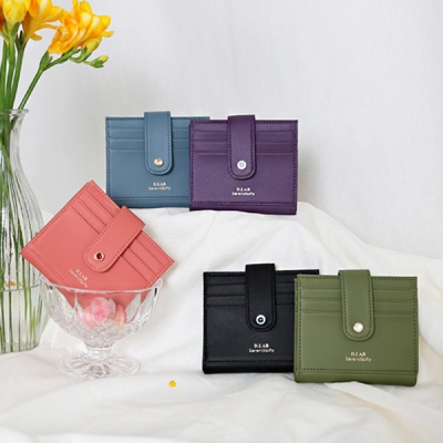 (탄생석지갑) Fiore Half Wallet - Black