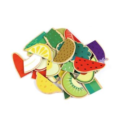 유아 자석 퍼니 퍼즐 놀이 학습 교구 과일 야채
