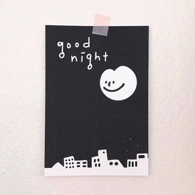 [사심굿즈]good night 엽서