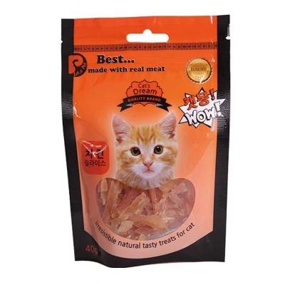 고양이 영양 간식 치킨 슬라이스 40g 냥이 먹이 용품