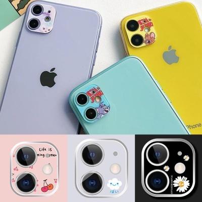 아이폰 12PRO 카메라렌즈 보호캡 강화유리 캐릭터필름