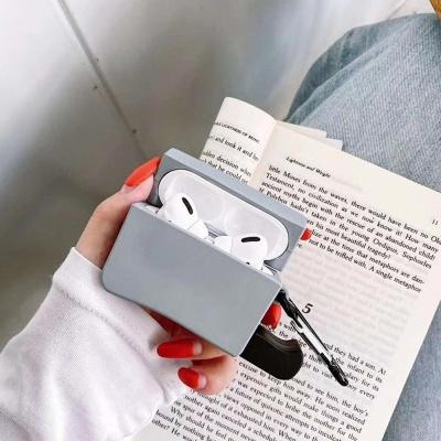 에어팟프로케이스 1 2세대 실리콘 미니식칼 철스티커