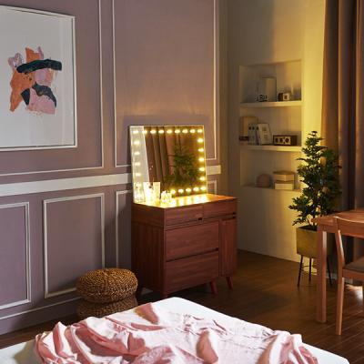 [Ldlab] 시크릿 LED 직사각 화장대 거치 거울