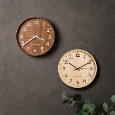 오리엔트 OT871 내츄럴 우드패턴 인테리어벽시계