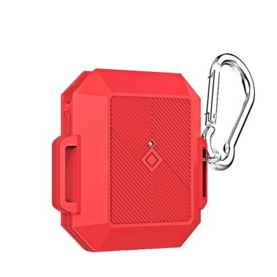 에어팟 케이스 1/2세대 야광 실리콘 보호 카라비너SET