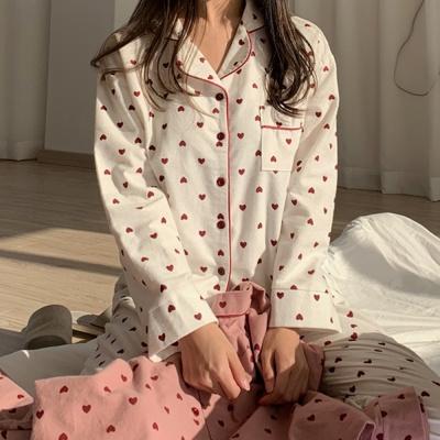 하트 피치기모 파자마 파티 잠옷 홈웨어
