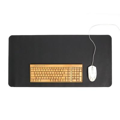 파스텔 휴대용 가죽 데스크 매트(블랙) / 책상패드