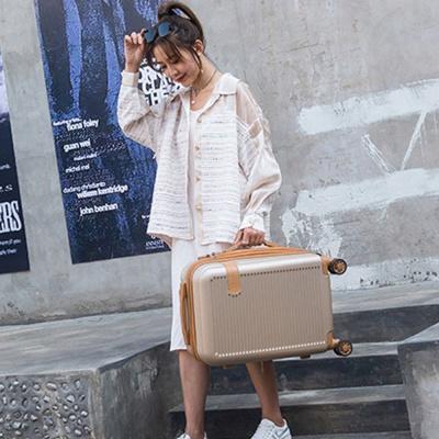 기내용 여행용 가방 하드 예쁜 캐리어 20형 베이지
