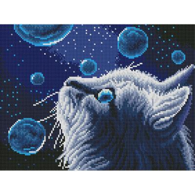 방울방울 고양이 (캔버스형) 보석십자수 30x40