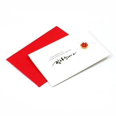 카네이션 브로치 카드 (2종)