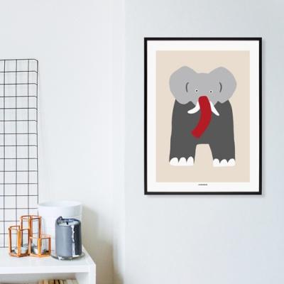 [카멜앤오아시스] Twins Beige 코끼리 포스터