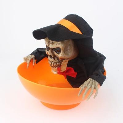 센서해골 사탕바구니(오렌지)